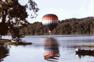 Ride Balloon over Lake Aquabii in Indianola Iowa